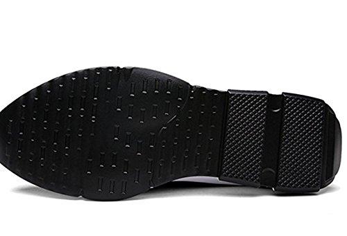 Herren Sportschuhe Sneaker Outdoor Sport Laufschuhe High-Top Freizeit Atmungsaktive Schuhe Schwarz