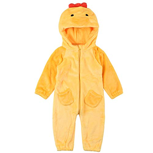 Infant Animal Costumes (Unisex Baby Animal Onesie Costume - Infant Toddler Winter Flannel Romper Outfit Cosplay Pajamas)