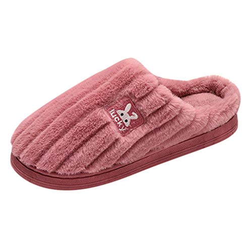perfectCOCO Slippers for Women Men Memory Foam Non-Slip Home Shoes Faux Fur Lined Cotton House Slippers Bedroom Shoes