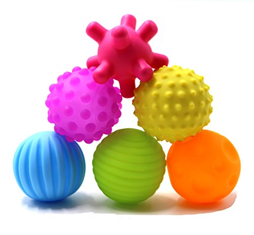 Super Durable 6 Pack Sensory Balls for baby and kids,Massage Soft &...