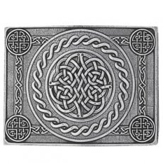 Cast Pewter Celtic Knot Four Dome Kilt Trews Belt Buckle ...