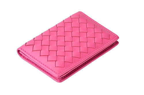 Tarhoo RFID Blocking Genuine Leather Card Holder,Card Case Hold 40 Business Cards in Gift Box for Men and Women (Pink)