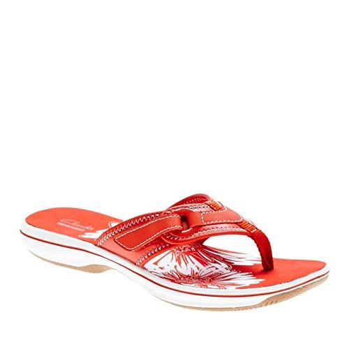 Clarks Donna Brezza Mare Mille Sintetico Sandalo Infradito Sandalo Sintetico