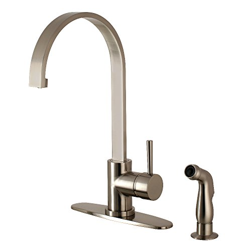 Kingston Brass LS8718DLSP Concord Single-Handle Kitchen Faucet with Side Sprayer, 8