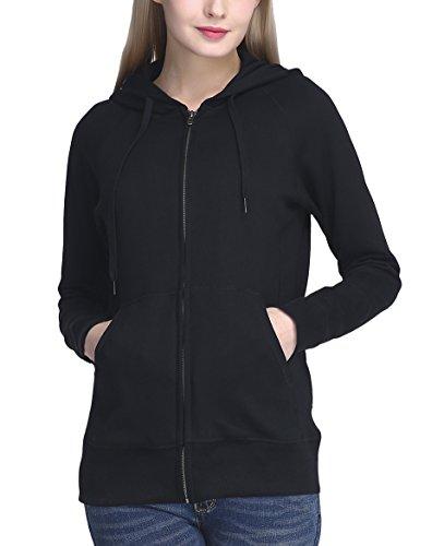 Zip Hoody Black Sweatshirts - 1