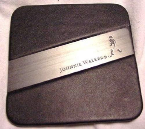 Johnnie Walker Scotch Whiskey Leather Coaster Set of 4
