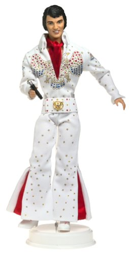 ELVIS Barbie Collectible Collector Edition Doll featuring in White Eagle Jumpsuit Timeless Treasures Elvis Presley Collection