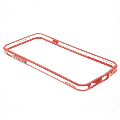 Iphone 6/6s Silicon Bumper Transparent Red by G4GADGET®