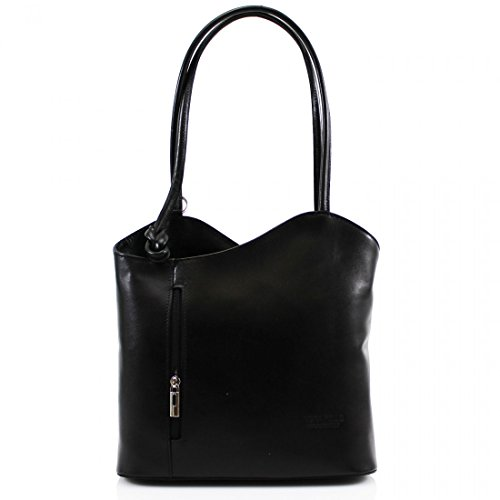 Linen Hand VP024 Backpack Bag Galaxy Shoulder Pelle Clutch Ladies Convertible Tote Bag Leather Girls Vera Women Black pqpOr