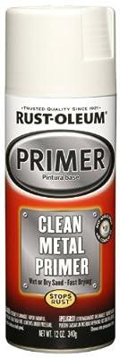 Rust-Oleum 249319 Automotive 12-Ounce Clean Metal Primer Spray Paint, White