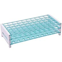 Plastic Test Tube Rack, 50-Place, Detachable, Polystyrene (Tube Size and Quantity Variations)