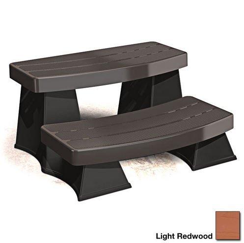 Spa Sure Step II – Light Redwood – Round or Square Portab...
