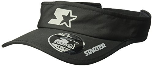Adjustable Starter Hat (Starter Men's Performance Visor, Prime Exclusive, Black, One Size)