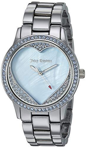 Juicy Couture Black Label Women's JC/1101BMSV Swarovski Crystal Accented Silver-Tone Bracelet Watch