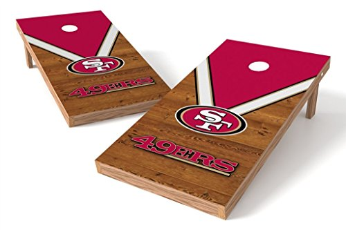 PROLINE NFL 2'x4' Cornhole Board Set - Uniform Design, San Francisco 49ers