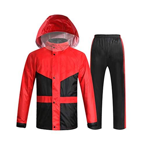 Classic rouge grand HBWJSH Imperméable imperméable Costume de Pluie imperméable Scission imperméable pour Les Hommes et Les Femmes (Bleu Noir Vert Fluorescent Rouge Classique)