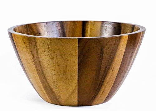 - Kevin Home Large Acacia Wooden Serving Bowl for Salads, fruits, Popcorn, Pasta, Salad Spinner, 10