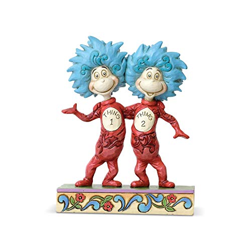 Enesco Dr. Seuss by Jim Shore Thing 1 and Thing 2 Figurine, Multi-color
