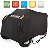"""Favoto Waterproof ATV ATC Cover Quad Bike 4 wheeler Cover, 88"""" L x 39"""" W x 42"""" H, Universal Fit, Dust Sun Wind Rain Leaves Outdoor Protection, Durable Night Reflective Strips with Carrying Bag"""