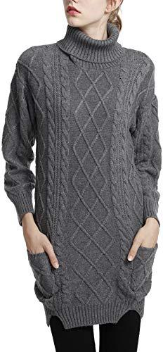 轻松舒适,优质羊绒羊毛针织高领毛衣裙