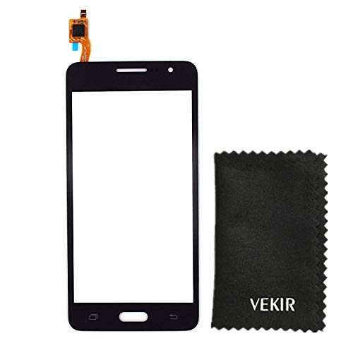 VEKIR Touch Digitizer Glass Lens Screen Repiar Parts Compatible with Samsung Galaxy Grand Prime(Black) Retail Packaging
