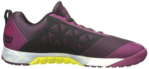 Reebok Women's Crossfit Nano 6-0 Cross-Trainer Shoe, Mystic Maroon/Rebel Berry/Black/Hero Yellow/Chalk/Pewter, 8.5 M US