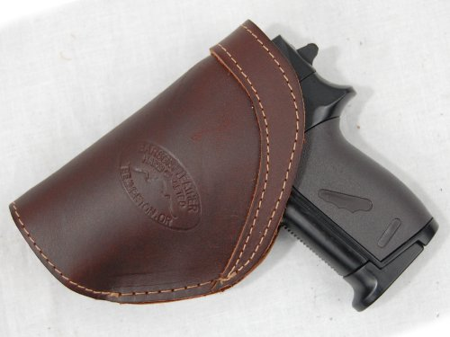 Barsony Brown Leather Inside the Waistband Holster for Baby Browning right