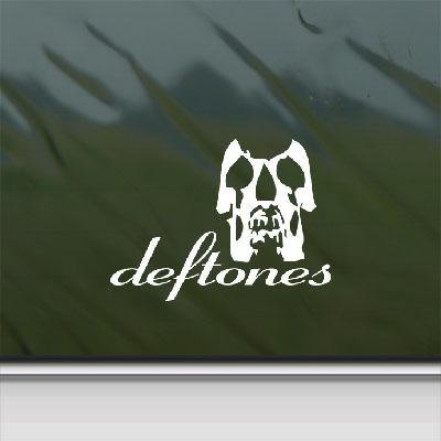 Amazon.com: Deftones Skull Rock Band Logo Car Adhesive Vinyl Bike ...