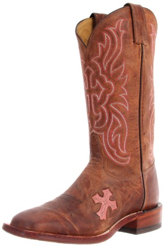 Tony Lama Women's Chocolate Goat Cross TC1005L Boot,Tan,9 B