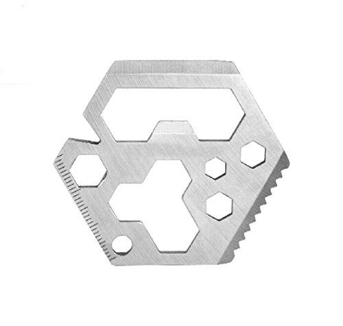 VERANY Hexagon Outdoor Survival Multifunction Key Chain Tool