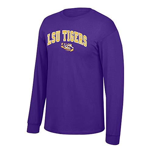 Elite Fan Shop NCAA Men's Lsu Tigers Long Sleeve Shirt Team Color Arch Lsu Tigers Purple - Sleeve Lsu Shirts Long