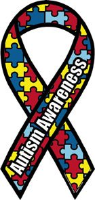 - Autism Awareness Mini Ribbon Magnet