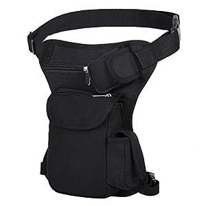 Eshow Men's Drop Leg Pouch Tools Bags Tactical Leg Bag Purse Fanny Pack Thigh Bags Bike Cycling Hip Bag Canvas