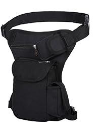 Men's Retro Canvas Sports Racing Drop Tactical Leg Bag Fanny Pack Bike Cycling Hip Bag