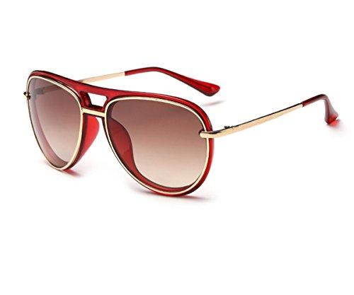 Heartisan Classic Flash Mirror UV400 Double Full Frame Women's Sunglasses C4