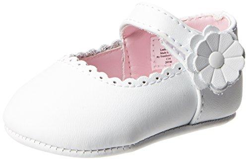 Baby Deer Leather SM Ballet Flat (Infant/Toddler),White,3 M US Infant