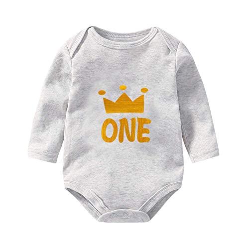 Baby Girl 1st Birthday Outfit, Baby Boy My First Birthday Bodysuits & Shirts, Boys & Girls One Year Old Birthday Shirt, Unisex Baby's Onesie (12 M, ()