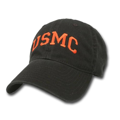 Black Usmc Cap - USMC ARCH HAT (BLACK)