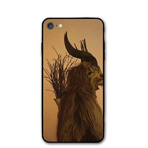 Folklore Christmas Changing Mask of Krampus iPhone 7 8 Phone Case Cover Theme Decorative Mobile Accessories Ultra Thin Lightweight Shell Pattern Printed