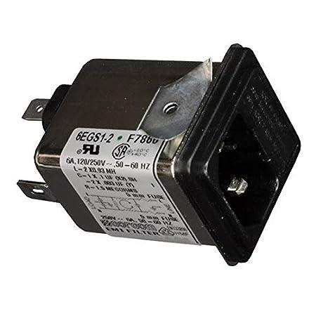 PWR ENT MOD RCPT IEC320-C14 PNL 6609117-6 Pack of 2