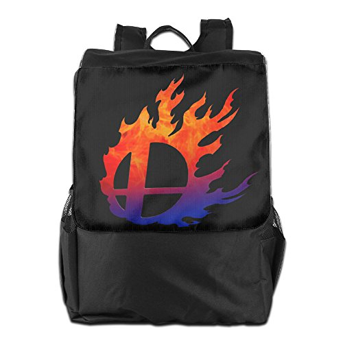 AIJFW Outdoor Travel Bag - Super Smash Bros Logo Unisex Backpack Daypack Bookbags Rucksack Shoulder Bag