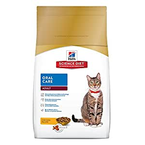 Hill's Science Diet Adult Oral Care Cat Food, Chicken Recipe Dry Cat Food for dental health, 7 lb Bag
