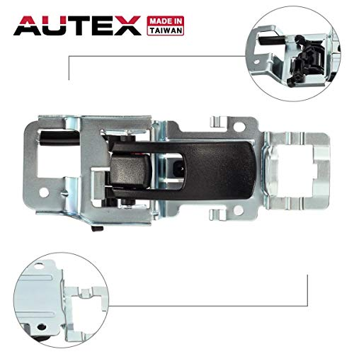 (AUTEX Black Interior Door Handle Front/Rear Left Driver Side Compatible with Chevrolet Equinox 2005-2009 Door Handle Replacement for Pontiac Torrent 2006-2009 Door Handle 25897973 15926297)
