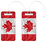 Rikki Knight Canada Flag Design Luggage Identifier Tags (Set of 4)