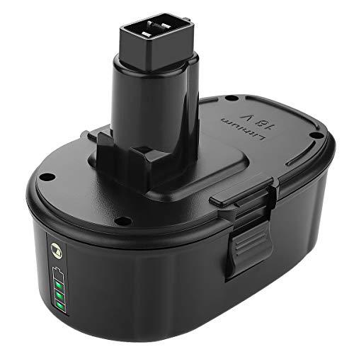 ANTRobut Replacement DC9096 5000mAh Lithium-ion 18 Volt battery for Dewalt 18v xrp battery DC9096 DC9098 DC9099 DE9039 DE9095 DE9096 DE9098 DW9095 DW9096 Dewalt Cordless Drill dewalt 18v battery
