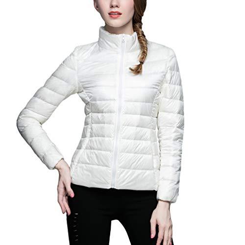 Chaud Manteau Puffer Veste Montant Femme Parka Court Zengbang Classique Hiver Col Légère Blanc 1qwpgP