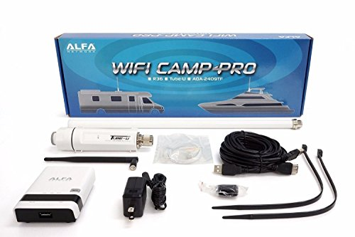 Alfa WiFi Camp Pro long range WiFi repeater kit R36/Tube-(U)N/AOA-2409-TF-Antenna by ALFA Network