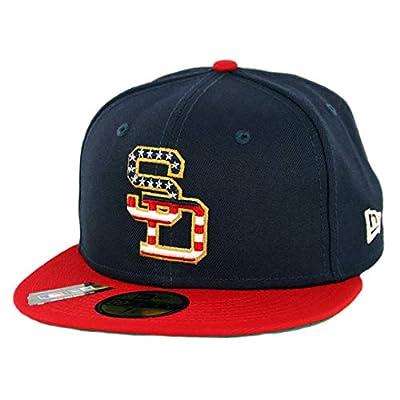 "New Era 5950 San Diego Padres July 4th 2019"" Fitted Hat (Dark Navy) Men's Cap"