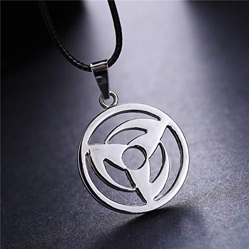 Algol - MOSU 20/pcs Anime Naruto Pendant Uchiha Obito Kakashi Mangekyou Sharingan Necklace Cosplay Toy Jewelry can