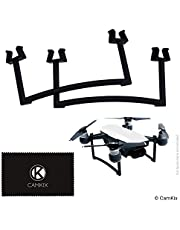 CamKix Landing Gear Kit Compatible with DJI Spark (Black) - Extra Height and Safety - Gives Your DJI Drone Ground Maximum Stability - Increased Distance Between Camera/Gimbal and Surface - Secure Fit